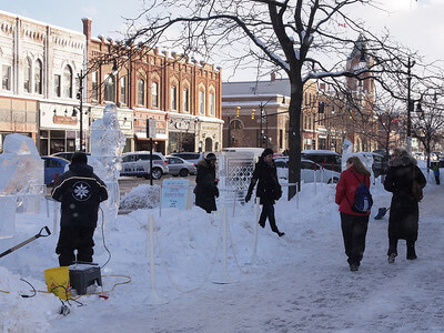 Ice Sculptured in Downtown Collingwood